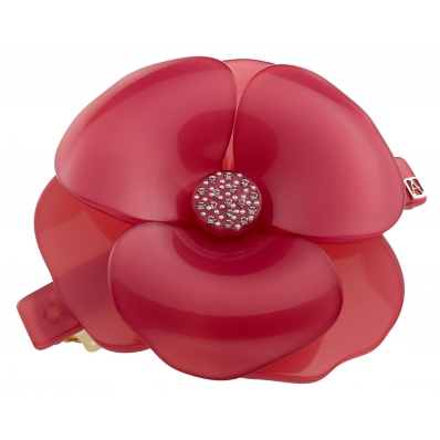 Alexandre de Paris flower barrette Camelia