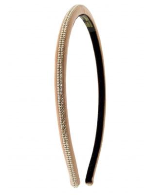 Alexandre de Paris headband leather Minimaliste