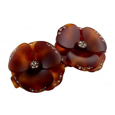 alexandredeparis-flower-hair-clip-barrette-tortoise-brown