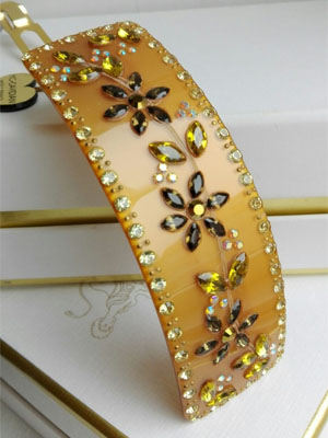 mcdavidian hair clip luxe crystal Flower barrette