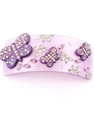 Butterfly crystal barrette MC Davidian hair clip