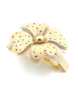 Rhinestone flower hair clip MC Davidian