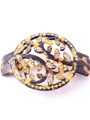 Flower hair clip MC Davidian barrette tortoise