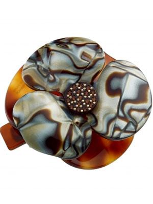 flower hair clip Camelia