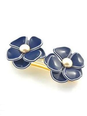 Flower barrette crystal hair clip France