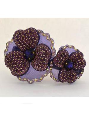 Flower barrette rhinestone Swarovski clip
