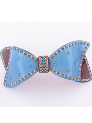 French barrette crystal Bow clip
