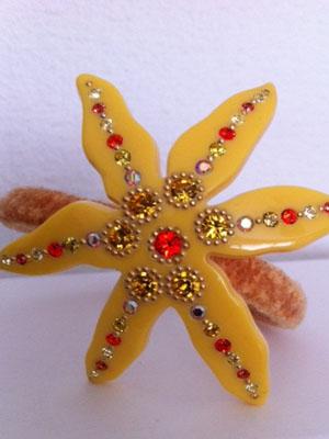 hair-clip-crystal-pony-Davidian-stars-yellow-hair-clip