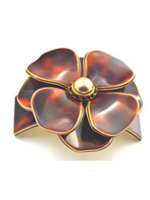 hair clip crystal flower barrette mc davidian