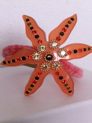 hair-clip-rhinestone-pony-Davidian-stars-coral-clip