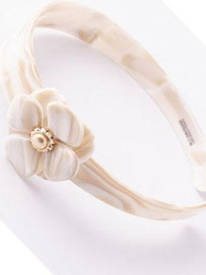 Headband Flower Swarovski pearls MC Davidian