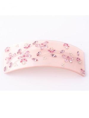 mcdavidian hair clip french Floral crystal barrette