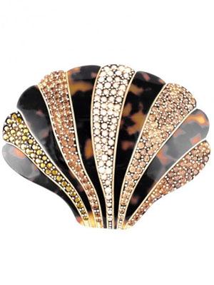 mcdavidian hair clip crystal Shell tortoise