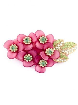 mcdavidian hair clip crystal flower