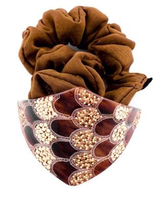 mcdavidian ponytail holder hair clip scrunchie fabric