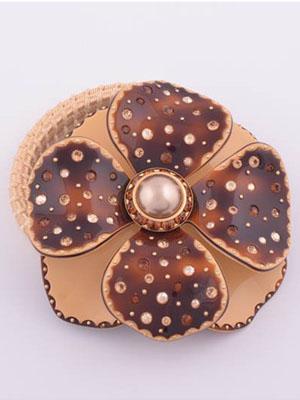 Elastic Flower hair clip rhinestone Swarovski
