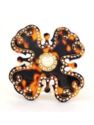 Rhinestone hair clip Flower