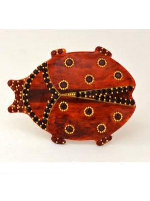 Crystal hair clip MC Davidian Swarovski crystal barrette Ladybird