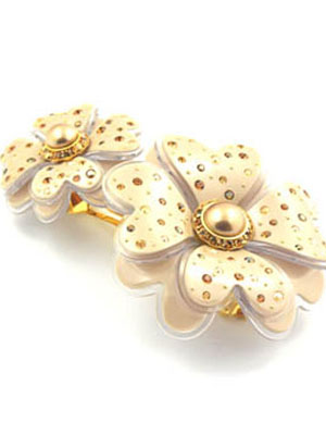 mcdavidian french hair clips alexandredeparis Rhinestone flower hair clip MC Davidian hair barrette