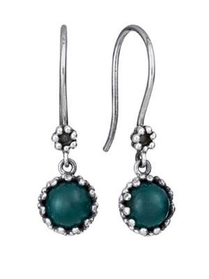 Agate silver 925 earrings