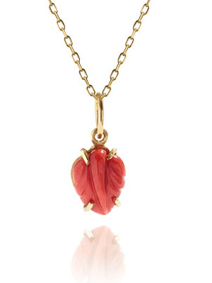 Gold Coral pendant 18K