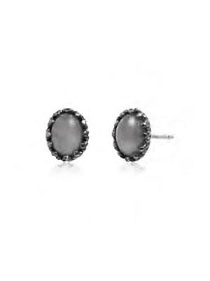 Moonstone stud earrings silver 925