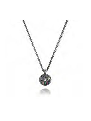 sapphire silver 925 necklace