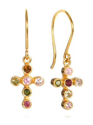 tourmaline-gold-plated-earrings