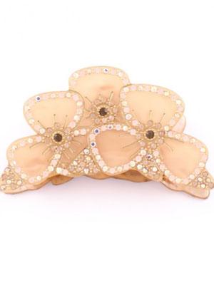 crystal flowers hair claw clip mc davidian